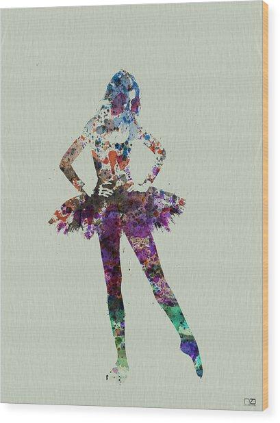 Ballerina Watercolor Wood Print