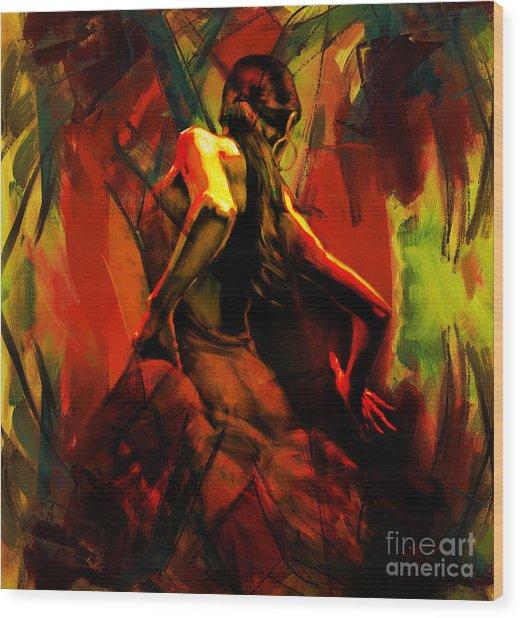 Spanish Flamenco Dancer 67p1 Wood Print