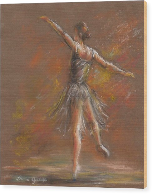 Ballet Dancer Wood Print