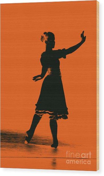 Ballet Girl Wood Print