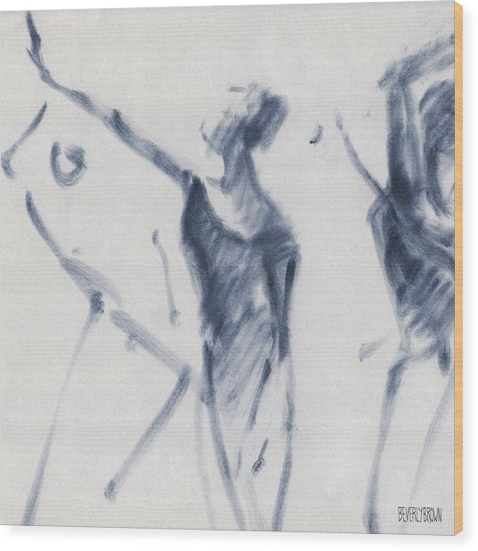 Ballet Sketch Arm Reaching Out Wood Print