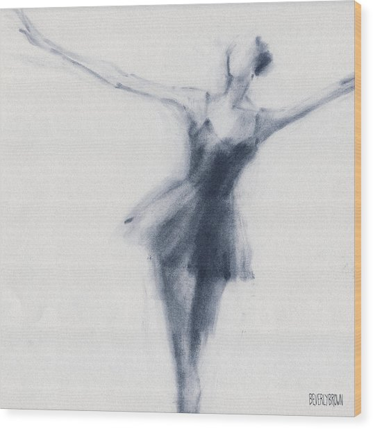 Ballet Sketch Dying Swan Wood Print