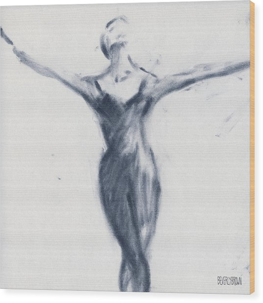 Ballet Sketch Open Arms Wood Print