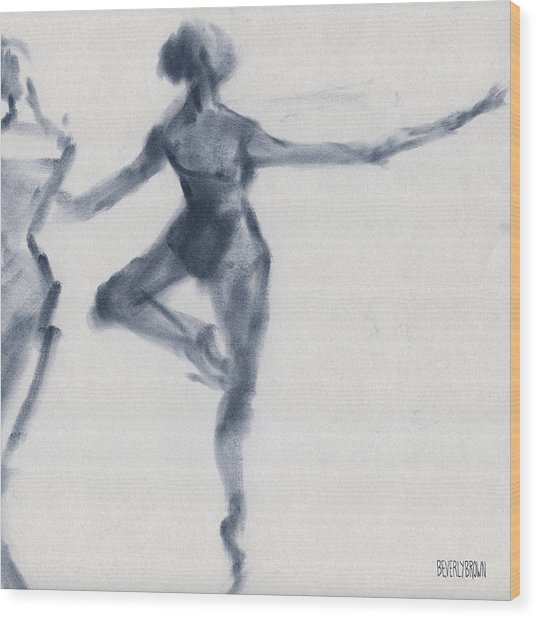 Ballet Sketch Passe En Pointe Wood Print