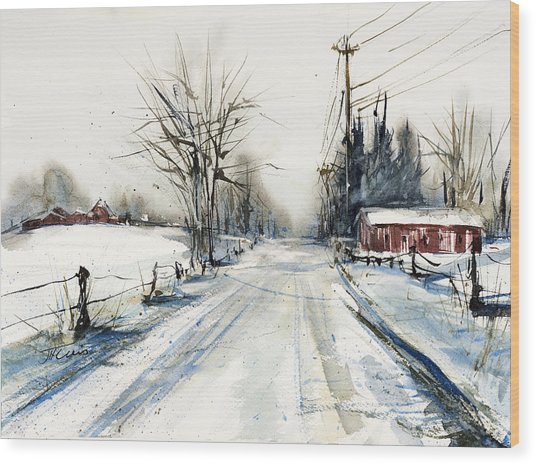 Ballina Road Wood Print
