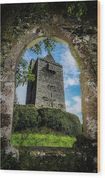 Wood Print featuring the photograph Ballinalacken Castle In County Clare, Ireland by James Truett