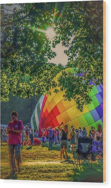 Balloon Fest Spirit Wood Print