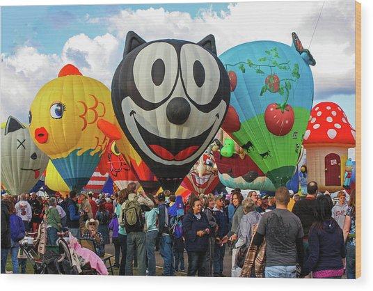 Balloon Fiesta Albuquerque II Wood Print