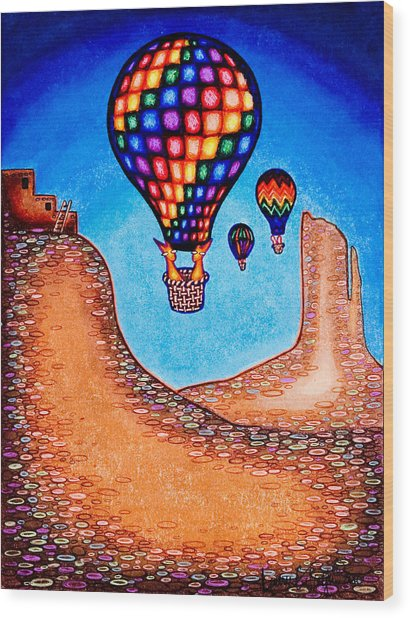 Balloon Kats Wood Print