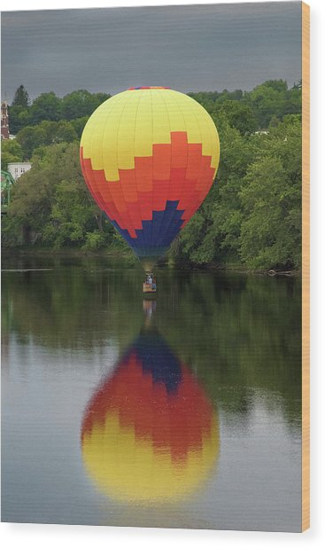 Balloon Reflections Wood Print