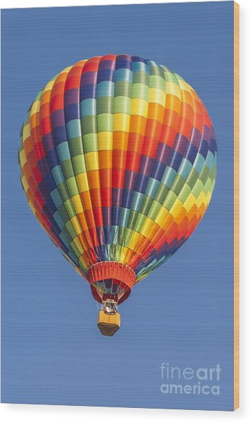 Ballooning In Color Wood Print
