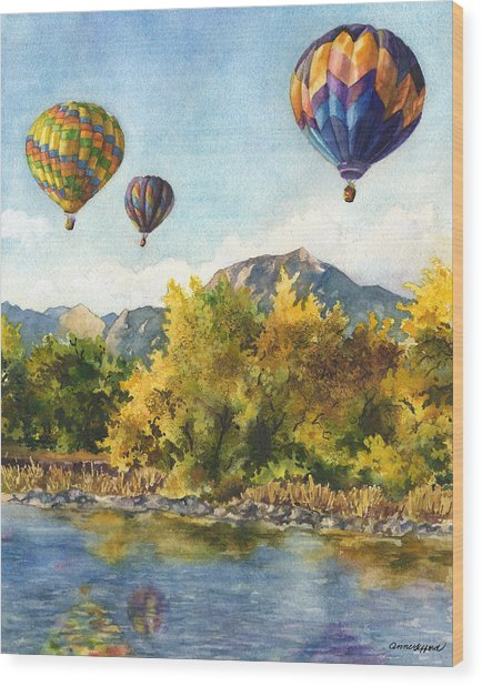 Balloons At Twin Lakes Wood Print