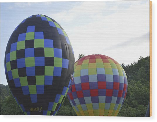 Balloons Waiting For The Weather To Clear Wood Print
