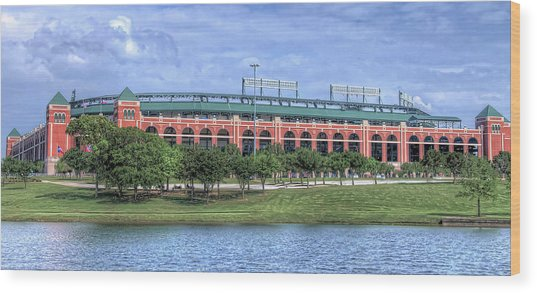 Ballpark In Arlington Now Globe Life Park Wood Print