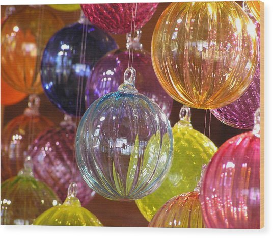 Balls Of Glass Wood Print by Richard Mansfield