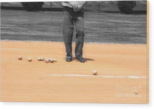 Balls Wood Print by Steven Digman