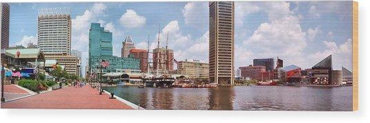 Baltimore Harbor Panorama Wood Print