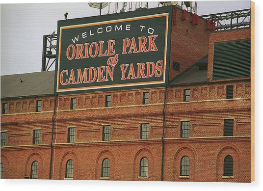 Baltimore Orioles Park At Camden Yards Wood Print