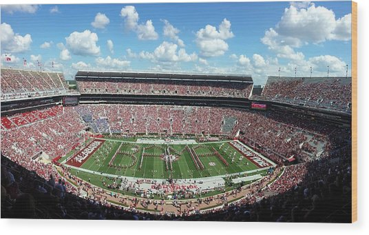 Bama Spell-out Panorama Wood Print