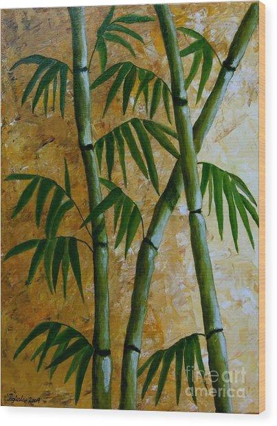 Bamboo Wood Print by Agusta Gudrun  Olafsdottir