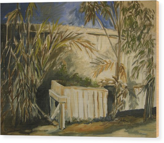Bamboo And Herb Garden Wood Print
