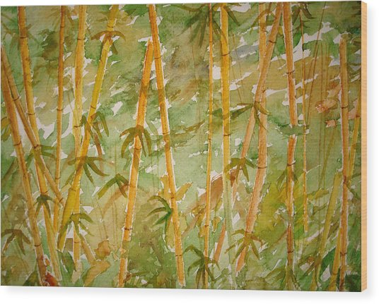 Bamboo Jungle Wood Print