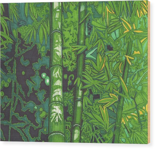 Bamboo Wood Print by Will Stevenson