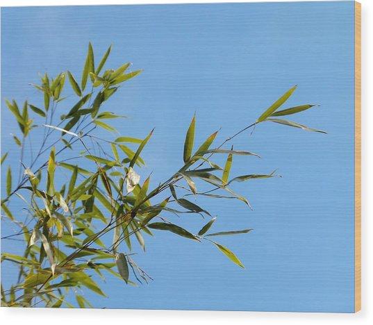 Bambous Au Ciel Wood Print