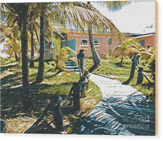 Banana Bay Wood Print