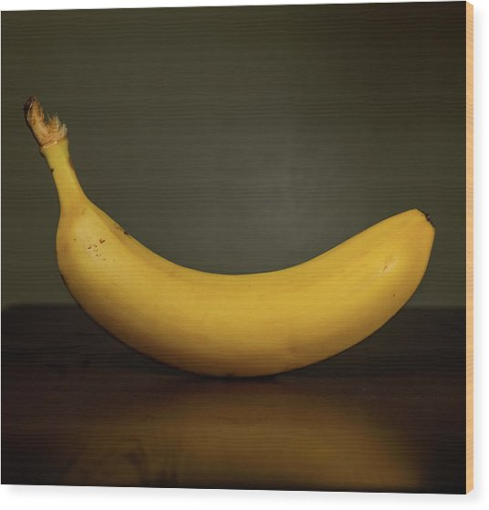 Banana In Elegance Wood Print