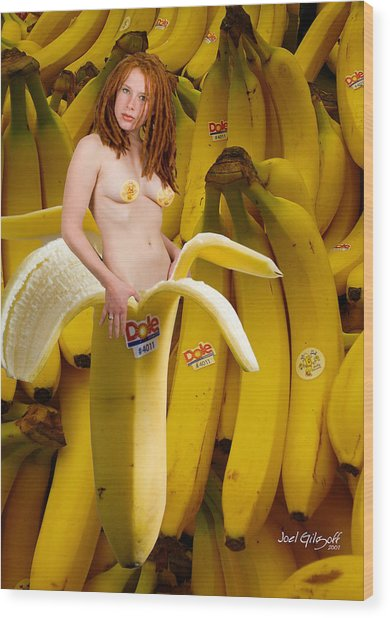 Banana With Appeal Wood Print