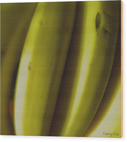 Bananas Wood Print by Fanny Diaz