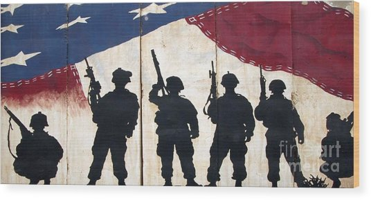 Band Of Brothers - Operation Iraqi Freedom Wood Print by Unknown