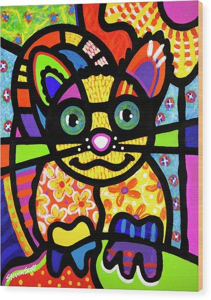 Bandit The Lemur Cat Wood Print