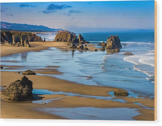 Bandon Beach Wood Print