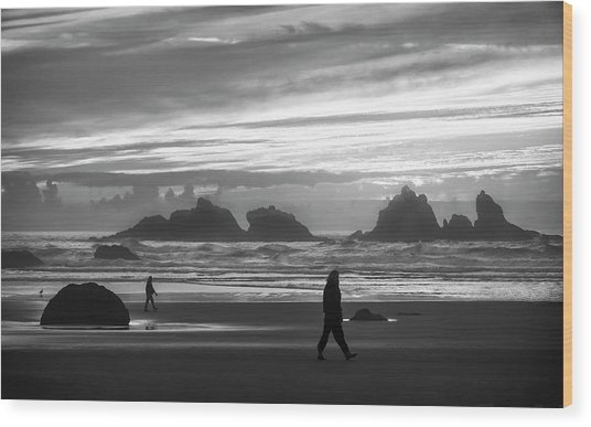 Bandon Beachcombers Wood Print