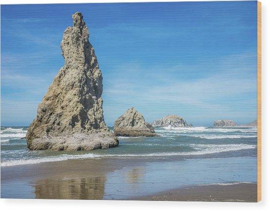 Bandon Rocks Wood Print