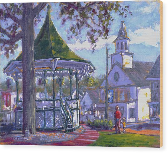 Bandstand Wood Print