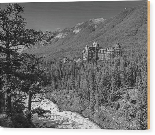 Banff Springs Hotel Wood Print