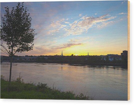 Bangor Sunset Wood Print