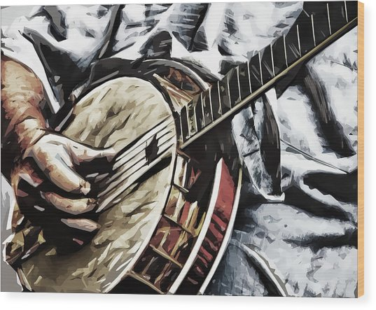 Banjoed Wood Print by Tilly Williams