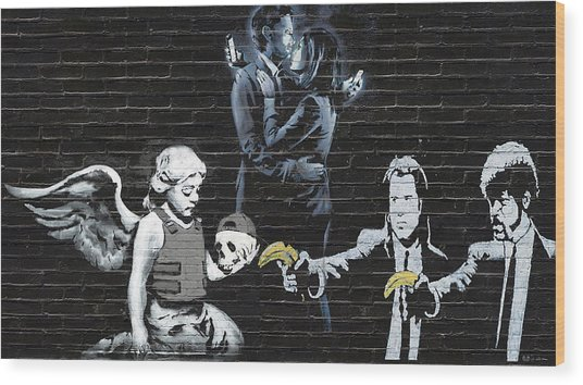 Banksy - Failure To Communicate Wood Print