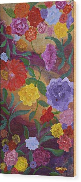 Banner Blossoms Wood Print by Sabra Chili