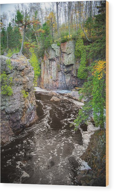 Baptism River In Tettegouche State Park Mn Wood Print