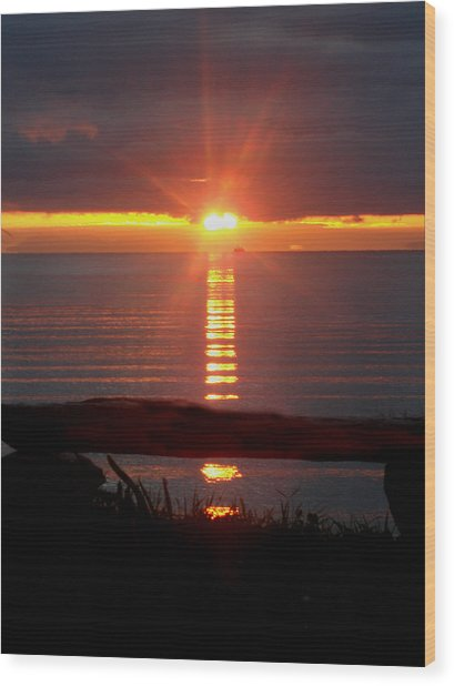 Baptism Sunrise Wood Print by Barbara Stirrup