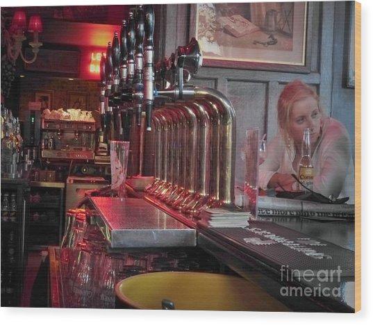 Bar Taps In Kilkenny Wood Print