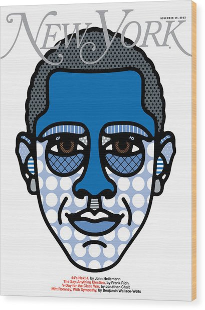 Barack Obama Is Reelected Wood Print