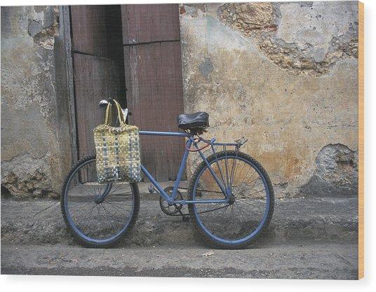 Baracoa Bicycle Wood Print