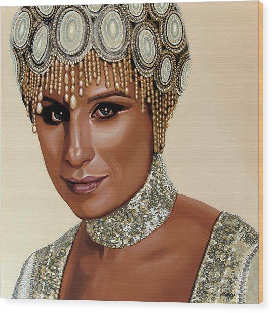 Barbra Streisand 2 Wood Print