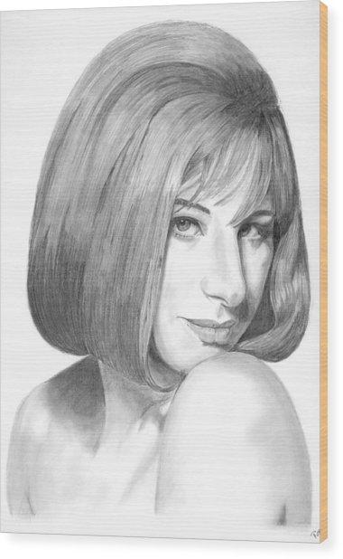 Barbra Streisand Wood Print